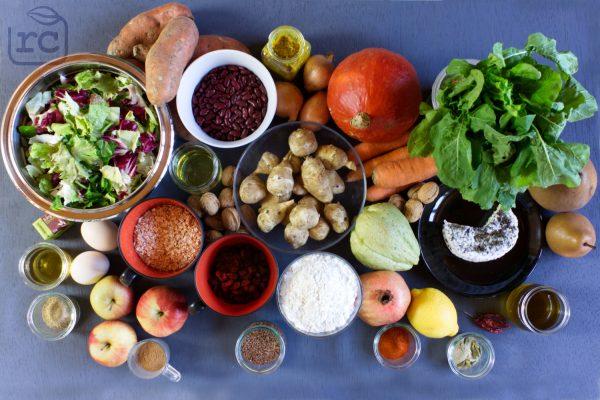 Saisonal kochen für die Arbeit im Dezember