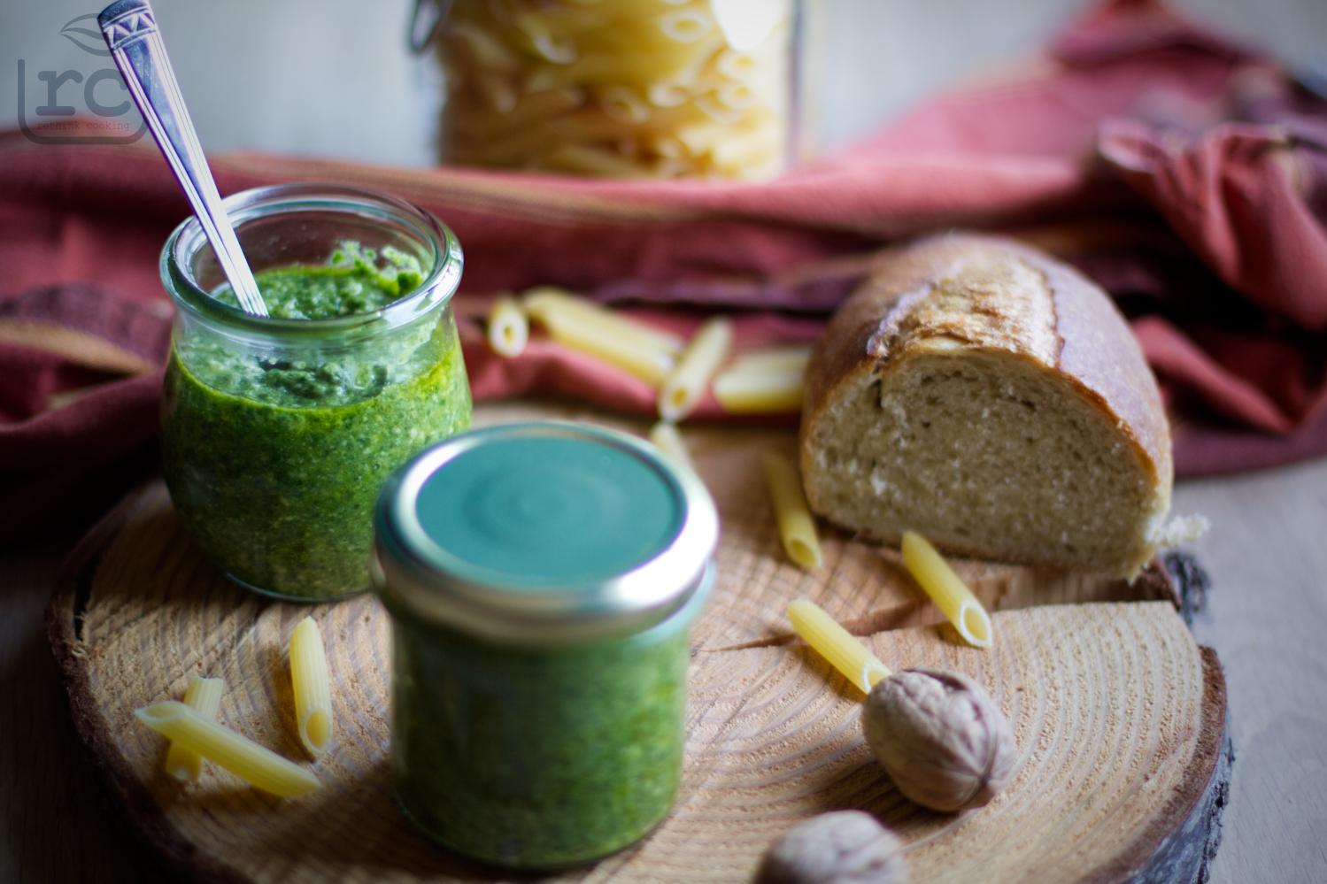 Schnelles Rezept Pesto Rucola Resteverwertung Gemüsegrun