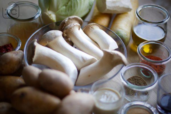 Zutaten Pulled Pilz