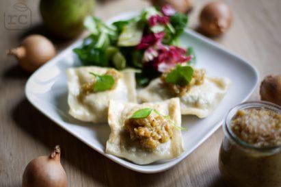 Rezept vegane Maultaschen mit Kartoffel-Pilz Füllung