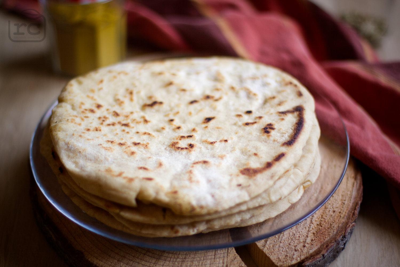Rezept für Naan Brot mit Sauerteig