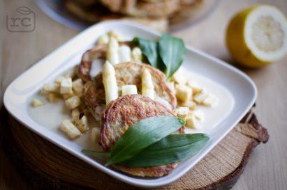 Rezept Pancakes Bärlauch und Spargel und Zitronen Soße
