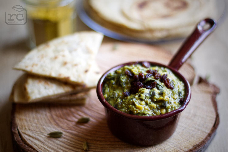 Rezept für schnelles Dal mit Spinat und Roten Linsen