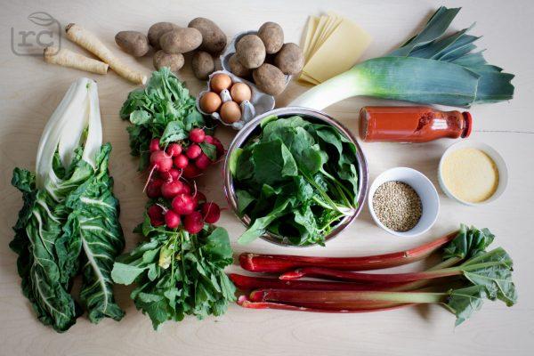 Zutaten für Saisonale Rezepte Mai