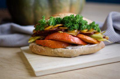 Herbstliches Kuerbis Sandwich